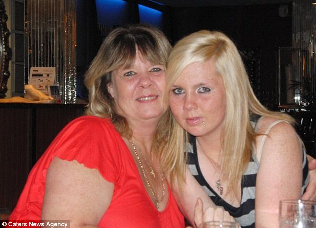 Miss Howarth, pictured right, with her mother Jo on her 16th birthday